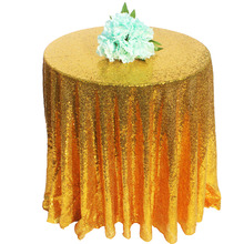 72 Inch Champagne/ Gold / Silver Round Sparkly Glitz Sequin Glamorous Tablecloth/Fabric For Event Reception Cake Table(China)