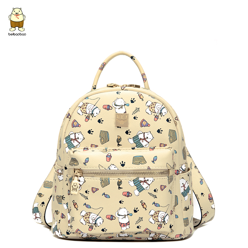Women Backpack 2017 Hot Sale Fashion Causal High Quality Cartoon Printing PU Leather Backpacks For Girls,mochila<br><br>Aliexpress