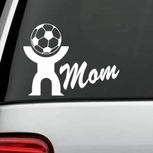 Mom Football Player Sticker Sports Soccer Car Decal Helmets Kids Room Name Posters Vinyl Wall Decals Football Sticker(China)