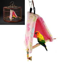 Bird Parrot Plush Hammock Cage Snuggle Happy Hut Tent Bed Hanging Bunk Toy Hanging Cave Swing Toys New Birds Supplies(China)