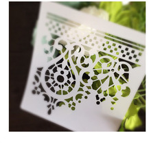 Lace Scrapbooking card DIY album masking spray painted template drawing stencils laser cut template AP7051030(China)