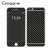 8 Colors Carbon Fiber PVC Vinyl Skins Sticker Deco Protective Decal For Iphone 6 Plus Cover(China)