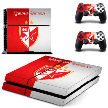 Crvena Zvezda Belgrad Red Star FK Football Club PS4 Skin Sticker For Sony PlayStation 4 Console and Controller PS4 Sticker Decal