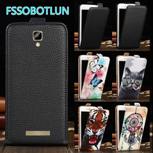 Factory Direct! TOP Quality Printed Cartoon Up and Down Flip PU Leather Cell Phone Case Cover For BLU Vivo XL 2