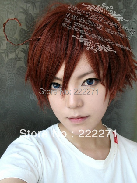 Free Track Anime AO NO EXORCIST Okumura Yukio APH Brown Flip Out Cosplay Short Costume Wig<br><br>Aliexpress