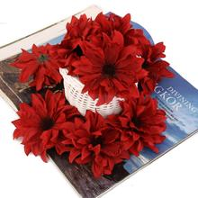 20x Artificial Silk Daisy Flower Wedding bride Hair Clip Accessories Red(China)