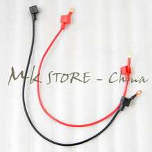 Motorcycle battery cable ( wiring harness ) with copper conductor For Electric start dirt bike ATV 2pcs (1red ,1black)