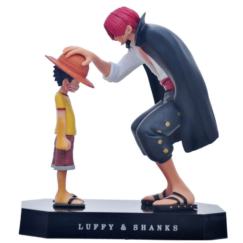 Anime One Piece Four Emperors Shanks Straw Hat Luffy PVC Action Figure Doll Child Luffy Collectible Model Toy Christmas Gift (5)