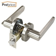Probrico Wholesale Security Door Lock With Key Stainless Steel DL8606SNET Door Handle Safe Entrance Locker(China)