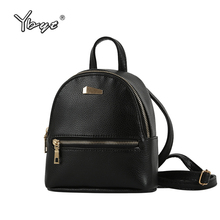 YBYT brand 2017 new small fashion rucksack hotsale women shopping purse ladies joker bookbag travel bag student school backpacks(China)