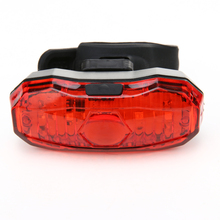 ABS material Bike 5 LED Red Bicycle Light Head front Lights Back Safety Warning Tail Rear Light Bicycle Accessories(China)
