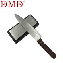 Hot sale 1pc DMD double-sided diamond whetstone kitchen knife sharpener tools sharpening stone 600 1200 grit with Angle Guide