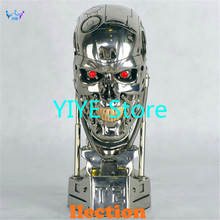 Hot NEW 1:1 Terminator T800 T2 Skull Endoskeleton Lift-Size Bust Figure Resin Replica LED EYE Best Quality FN0144(China)