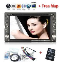 Windows HD Touch Screen In-Dash 2DIN GPS Car Video DVD Players Radio Stereo Bluetooth TV Audio free map(China)