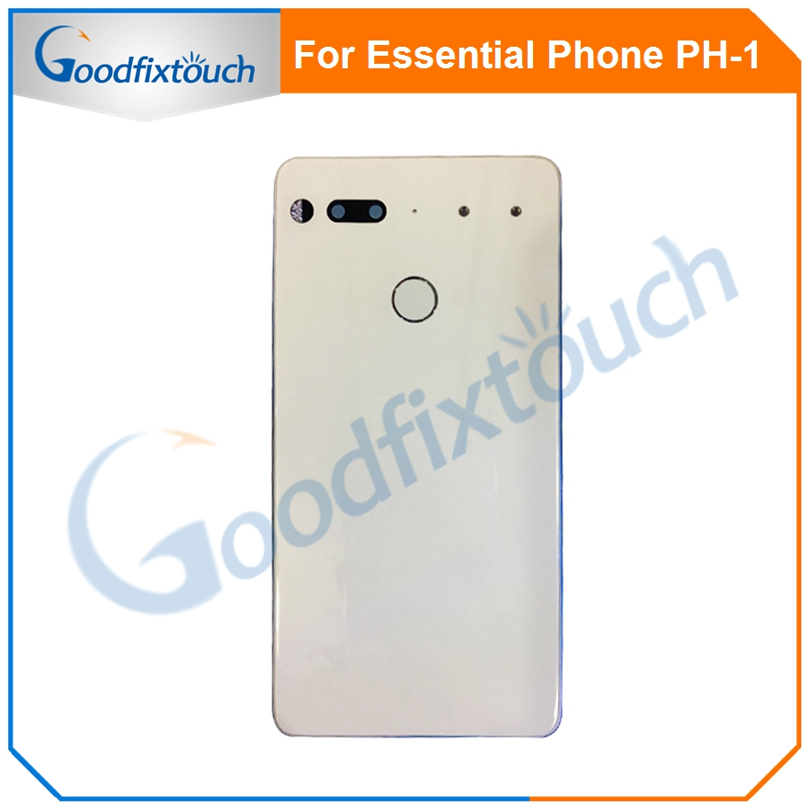 For Essential Phone Ph-1 PH 1 Rear Back Battery Cover Door Ceramics Glass Housing With Fingerprint Camera Glass Raplacement Part (6)