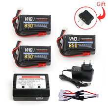 Buy VHO 3PCS 3s lipo battery 11.1V 850mah 30C charger Quadcopters Helicopters RC Cars Boats High Rate batteria lipo car part for $46.66 in AliExpress store