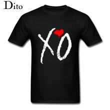 Urban Fashion The Weeknd T Shirt for Men Geek Cheap Band Rapper Shirts Short Sleeve 90S Canadian Singer XO Logo Tshirt Tee Shirt
