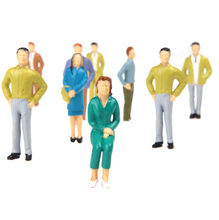 20pcs/Set Model People G Scale 1:25 Mix Painted Model People Train Park Street Passenger Figures for Layout Landscape Models