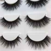 Sexy 100% Handmade 3D mink hair Beauty Thick Long False Mink Eyelashes Fake Eye Lashes Eyelash High Quality(China)