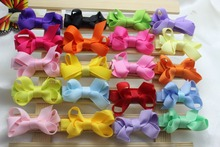 20PCS/lot Kids Hair Accessories Girls Hair Clips Small Ribbon Whole Wrapped Safety Boutique Bow Hairpins Barrettes Headwear H01