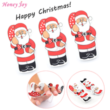 10pcs Christmas Santa Claus EVA Sponge Foam Finger Toe Separator Nail Art Salon Pedicure Manicure Tool Feet Care Beauty Bracket