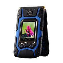 Flip Land X9 Dual Big Display Rover Touch Screen Dual Sim Quick Fast Dial Big Russian Key Plastic Senior Mobile Phone P008 X10(China)