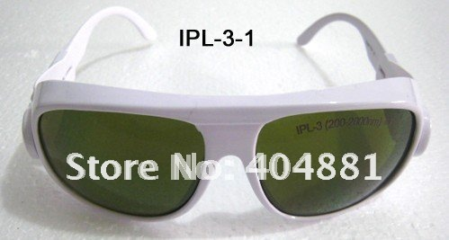 IPL safety glasses/goggles/eyewear 200-2000nm, CE certified, O.D 4+  good V.L.T% white frame<br>