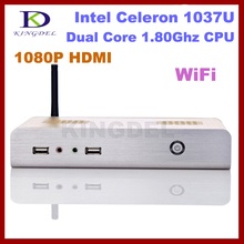 Free shipping 4GB RAM/500GB HDD Thin client,Mini desktop oc,Nettop Intel Celeron/Pentium Dual Core,1.8Ghz, Win 7 OS 1080P HDMI