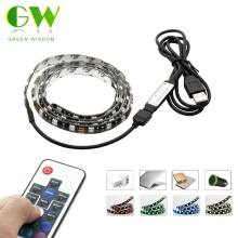 DC5V RGB LED Strip 5050 USB TV Background Lighting 60LEDs/m with 17Key RF Controller 50cm / 1m / 2m Set