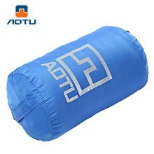 AOTU Outdoor Camping Traveling Ultra-light Multifunctional Portable Warm Polar Fleece Sleeping Bag For Outdoor Camping