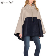 Womens Capes And Ponchoes 2016 Autumn Winter Warm Loose Casual Batwing Wool Blends Jacket Plus Size Cloak Coats abrigos mujer
