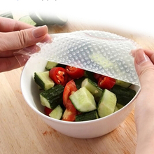 New 4pcs Multifunctional Food Fresh Keeping Wrap Kitchen Tools Reusable Silicone Food Wraps Seal Vacuum Cover Lid Stretch