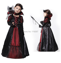 Shanghai Story Halloween vampire princess children halloween costume Evil Queen kid party dress performance cosplay costumes(China)