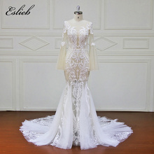 Buy Eslieb Custom made Wedding Dresses Button back Appliques Bridal Gowns Vestido De Novias Wedding Dress XF17108 for $539.40 in AliExpress store