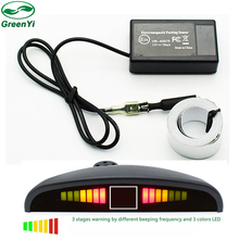 Wholesale 10pcs Car Electromagnetic Parking Sensor System with LED Display and Buzzer,Reverse Backup Radar Sound Alert