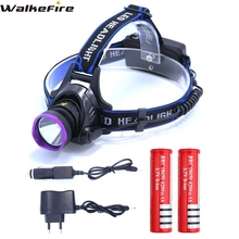 5000 Lumens CREE XM-L XML T6 LED Headlamp Headlight Flashlight Head Lamp Light + 2*18650 battery + charger + Car Charger(China)