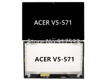 "15.6"" For Acer Aspire V5-571P Series Touch LCD Screen Assembly with Digitizer B156XTN03.1 30Pin"