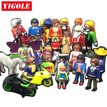 Playmobil Action Figures Set Toy Scenes City Life Animal Santa Claus Models Kids Toys Birthday Gift