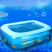 Kid Baby's Cartoon Underwater World Pattern Printed Inflatable Aerated Square Newborn's Swimming Pool piscina dropshipping hot