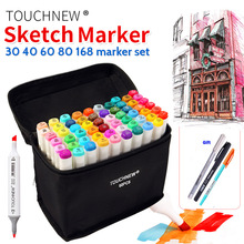 Touchnew 80 Colors Drawing Art Copic Markers Pen Set Oily Alcoholic Dual Headed Sketch Markers Animation Manga Design
