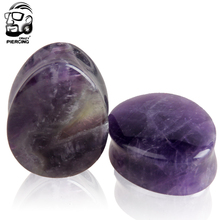 noble purple natural stone plug body jewelry piercing 40pcs water drop ear plugs ear expander wholesale mixed size