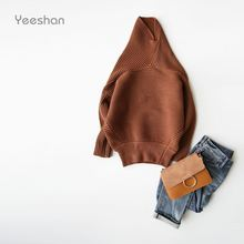 Yeeshan Cashmere Turtleneck Sweater Women Batwing Sleeve Women Sweaters and Pullovers Ribbed Knitting Women's Sweater Brand(China)