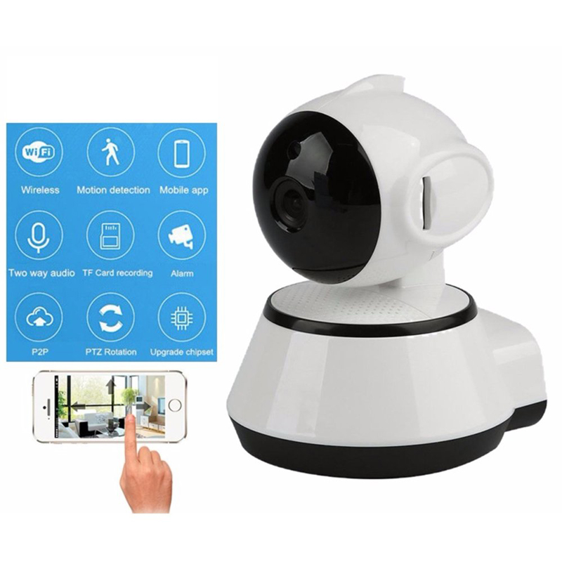 V380 Mini WiFi Wireless CCTV Home Security HD 720P IP Camera Security Camera P2P Night Vision IR Surveillance Camera<br>