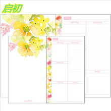 20 sheet/pack Spring notebook filler planner pages inside papers Monthly Date List Weekly plan A5 A6 Freeshipping 2016 wholesale(China)