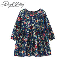DAVYDAISY Pretty Girls Dress Lovely Floral Print Long Sleeve Flower Kids Dress Baby Girl Clothes Princess Dresses 2-8Y WD-014