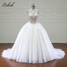 Buy Eslieb Custom made Wedding Dresses Button back Appliques Bridal Gowns Vestido De Novias Wedding Dress xfm014 for $503.20 in AliExpress store