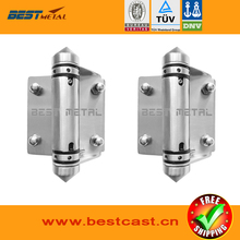 2 Pieces/Lot Satin polish 316 Stainless steel Self Closing Hinges of glass to glass for glass swimming pool fencing
