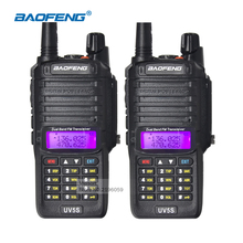2pcs Baofeng Walkie Talkie Pair BF-UV5S IP67 Waterproof Two Way Radio Dual Band UHF VHF Handheld Portable Ham Radio Comunicador(China)
