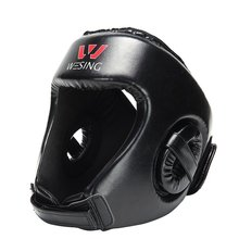 Product Details Pu Leather Sanda Boxing Head Guard Headgear Face Protector Sparring Gear Helmet, all-around protect for MMA/Box
