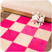 Living Room Bedroom Children Kids Soft Patchwork Carpet Magic Jigsaw Splice Puzzle Climbing Baby Mat Play Game Floor Rug 30*30CM